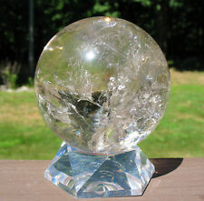 Large Quartz Sphere / Crystal Ball w Touch of Smoky & Rainbows