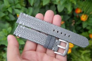 Bespoke Custom made handmade stingray skin without pearl leather watch strap