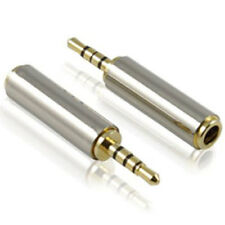 2.5mm male to 3.5mm STEREO Female Audio Adapter Converter Gold Plated