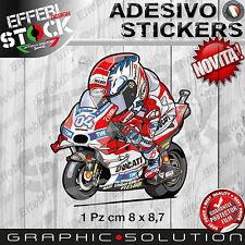 Adesivo Sticker A.DOVIZIOSO DUCATI AD 04 DOVIPOWER CARTOON MASCOTTE H.QUALITY