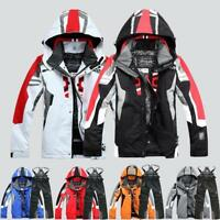 Mens Winter Ski Suit Jacket Waterproof Coat Pantsuits Snowboard Warm Snowsuits