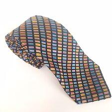 Multi coloured TIE Jacquard silk DUCHAMP Handmade in England Textured weave