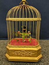 K G Kg K.G Karl Griesbaum German Singing Chirping Music Box Bird Cage Auto Rare