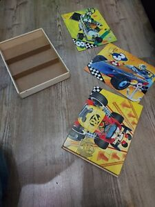 2Set Kids Wooden Jigsaw Puzzles 60Pcs in a Storage Box Age Range 3 Years up
