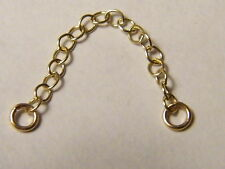 Or 9 carats or jaune bracelet courte sécurité chain-findings -.375 - necklace-not SCRAP