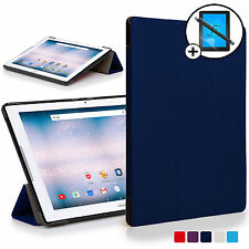 Blue Smart Case Cover Shell for Acer Iconia One 10 B3-A30 Screen Prot & Stylus