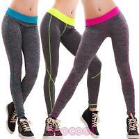 Pantaloni donna leggings sport fitness fluo elastici palestra sexy nuovi LR-85