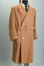 Large Men's 1930s' Aquascutum Magnificent Very Heavy Wool Belted Overcoat. XVKE