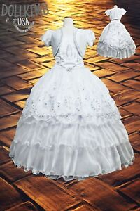 Vestido de primera comumion. Virgin Mary First Communion Dress Girls.  Wholesale