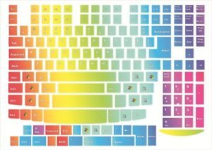 Keyboard stickers Rainbow Decal Decoration Protector PC&Laptop multicolor