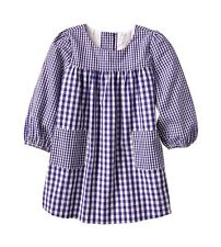 GAP Baby Girl Size 0-3 Months NWT Blue / White Gingham Long-Sleeved Dress