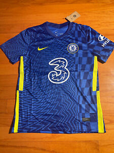 Christian PULISIC #10 NWT Nike Chelsea FC Home Soccer Jersey 2021/2022 Large