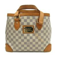 LOUIS VUITTON Hampstead PM Shoulder tote bag N51207 Damier Azur Used  LV