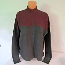 Victoria's Secret Kiss of Cashmere Mockneck Sweater Shirt Gray/Wine L