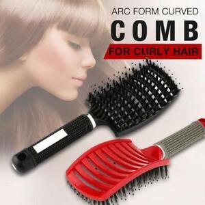 Girls Hair Scalp Massage Comb Hairbrush Bristle Nylon Women Wet Curly Detangle