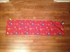 """Vintage SCARF Red Multi Color FLORAL Pattern Design 44"""" x 11 1/4"""" Made In USA"""