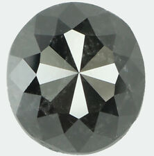 Natural Loose Diamond Oval Black Color I3 Clarity 7.60 MM 1.88 Ct KDK1713