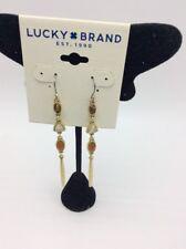 $35 Lucky Brand gold tone multi stone linear drop earrings D36