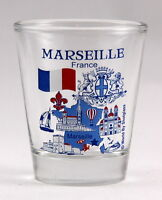 MARSEILLE FRANCE GREAT FRENCH CITIES COLLECTION SHOT GLASS SHOTGLASS