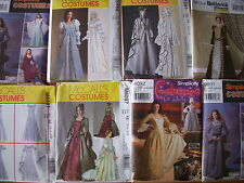 Patterns Costumes Queen Victorian Medieval Bridal Kimono Martial Arts  -Lot #25