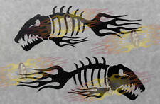 Flamefish Stickers No Nitro Fish has Fin Flames Decals in any color  NEW