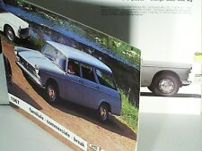 BEAU CATALOGUE 1967 PEUGEOT 404 FAMILIALE, COMMERCIALE, BREAK LUXE, DIESEL