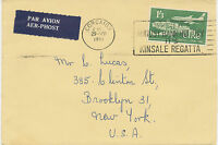 "IRELAND 1961 25 Years Airline ""Aer Lingus"" 1´3 Sc´Pg darkgreen airmail cvr"