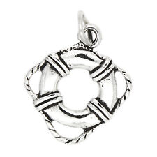 STERLING SILVER LIFE PRESERVER RING CHARM OR PENDANT