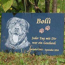 Jack Russel GRABSTEIN Tiergrabstein Grabmal Hunde Hund-021 ►Fotogravur◄ 40x25 cm
