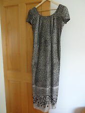 Joseph Ribkoff, animal print long dress, size 10