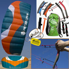 Peter Lynn Hornet 5M Foil Power Kite Kiteboarding 4-Line Fixed Quad Handles 5.0