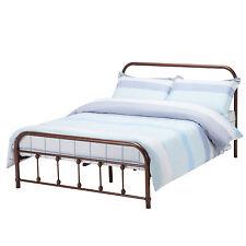 Metal Full Size Bed Frame Platform w/ Headboard Footboard Bedroom Antique Rustic