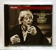 FRANS BRUGGEN - MOZART symph. #40 BEETHOVEN symph. #1 PHILIPS CD full silver NM