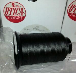 4 Large Spools Graphite Gray #4 Button Sewing Thread STRONG Utica #7251 NOS