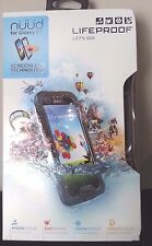 Authentic LifeProof Samsung Galaxy S4 Water & Shock Proof Nuud Case Black NEW