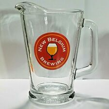"New Belgium Brewing Heavy Duty Glass Pitcher 60oz 9"" Tall D Handle"
