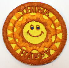 """Cool Vintage Think Happy Hallmark Brand """"Rumper Stitcher"""" Patch Emblem 3"""""""