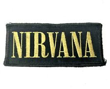 Vintage Nirvana Patch Black and Gold Logo 4 x 1.75 Inches