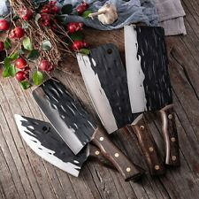 Chopping Slicing Cleaver Knife Forged Stainless Steel Kitchen Cooking Knife Sets