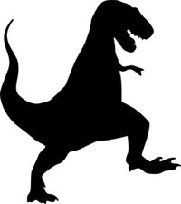 T-Rex Dinosaur (Stomp) - Wall/Laptop/Car - Vinyl Decal/Sticker - Free Post