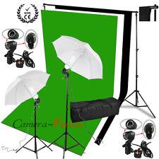 Photo Studio fond éclairage Kit coton mousseline toile de fond blanc noir vert F