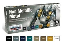 Vallejo Model Colour Non Metallic Metal Acrylic Paint Set # 72212