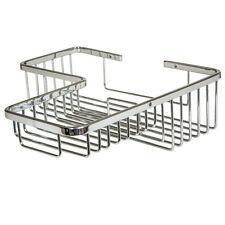 L-Shape Corner Soap Shower Basket Bathroom Chrome Wire Work Accessories F07