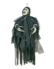 20CM BLACK REAPER WITH STAKE RED LIGHT UP MOVING WITH SOUND HALLOWEEN DECORATION