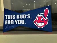 "BUDWEISER BUD LIGHT  BASEBALL POSTER SEX  CLEVELAND INDIANS METAL TIN SIGN 14""x7"