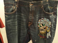 Ed Hardy by Christian Audigier # 2007 42 x 34 Pirate Skull Men's Jeans