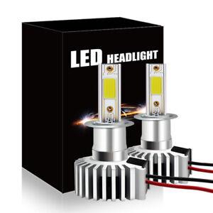 Super Mini H3 60W 6600LM 6500K COB LED Headlight Kit Hi-Lo Beam Fog Light HID