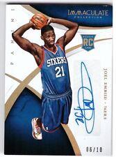 JOEL EMBIID 76ers 2015 Immaculate Multisport Holo Gold Auto RC 06/10