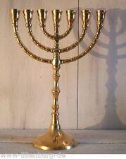 Menorah Davidleuchter Kerzenleuchter Kerzenständer Messing Antik Menora Mennorah