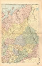 1893 Antique Map - Russia North East, Archangel